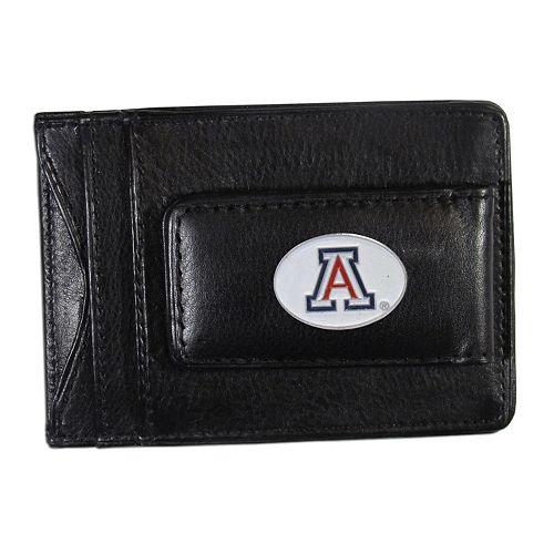 Arizona Wildcats Black Leather Cash & Card Holder