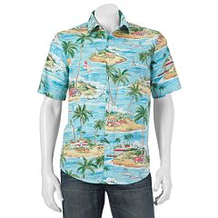 Men's Batik Bay Modern-Fit Tropical Casual Button-Down Shirt