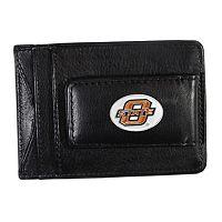 Oklahoma State Cowboys Black Leather Cash & Card Holder