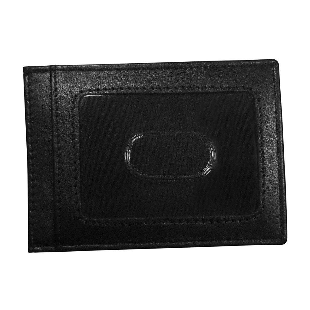 Miami Hurricanes Black Leather Cash & Card Holder