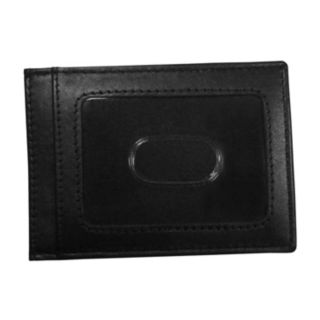West Virginia Mountaineers Black Leather Cash & Card Holder