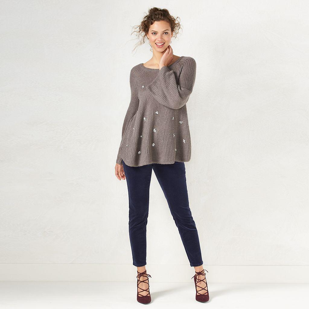 Women's LC Lauren Conrad Boxy Scoopneck Sweater