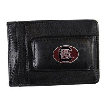 South Carolina Gamecocks Black Leather Cash & Card Holder