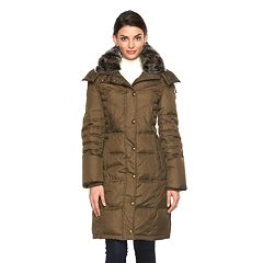 Women's Towne by London Fog Hooded Down Puffer Jacket