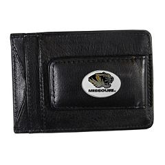 Missouri Tigers Black Leather Cash & Card Holder