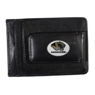 Missouri Tigers Black Leather Cash & Card Holder