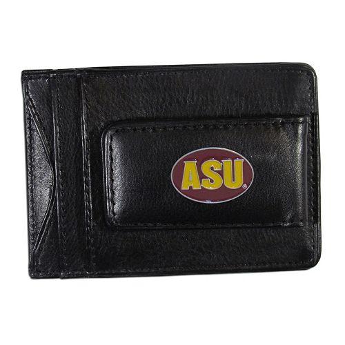Arizona State Sun Devils Black Leather Cash & Card Holder