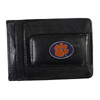 Clemson Tigers Black Leather Cash & Card Holder
