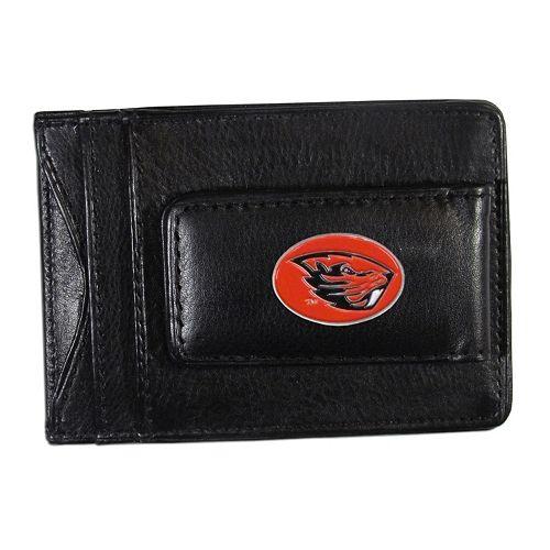 Oregon State Beavers Black Leather Cash & Card Holder