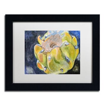 Trademark Fine Art Cactus Fruit Black Framed Wall Art