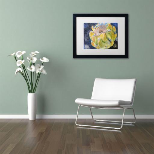Trademark Fine Art Cactus Fruit Black Framed Wall Art