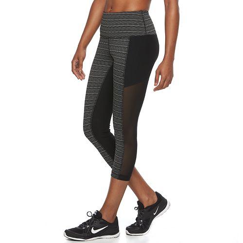 c4dd359ab231e Women's 90 Degree by Reflex Colorblock High Waist Capri Yoga Leggings