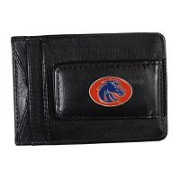 Boise State Broncos Black Leather Cash & Card Holder