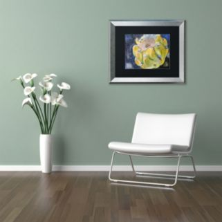 Trademark Fine Art Cactus Fruit Silver Finish Framed Wall Art