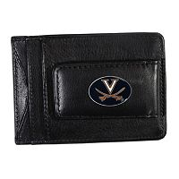 Virginia Cavaliers Black Leather Cash & Card Holder