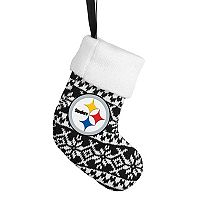 FOCO Pittsburgh Steelers Knit Stocking Christmas Ornament