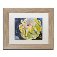 Trademark Fine Art Cactus Fruit Birch Finish Framed Wall Art