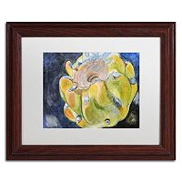 Trademark Fine Art Cactus Fruit Wood Finish Framed Wall Art