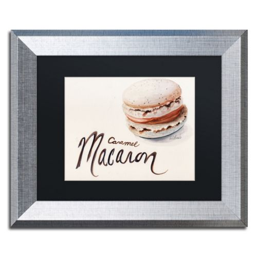 "Trademark Fine Art ""Caramel Macaron"" Silver Finish Framed Wall Art"