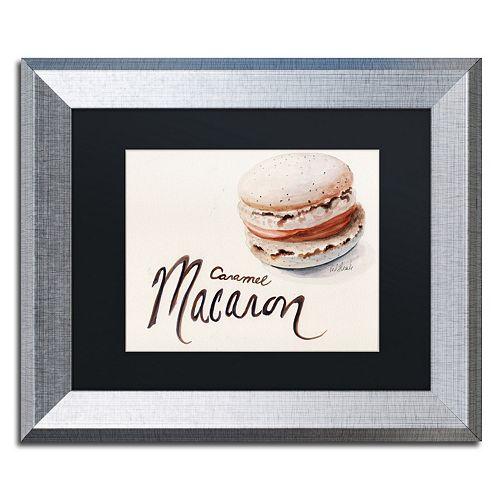 """Trademark Fine Art """"Caramel Macaron"""" Silver Finish Framed Wall Art"""