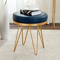 Safavieh Jenine Faux Ostrich Round Bench
