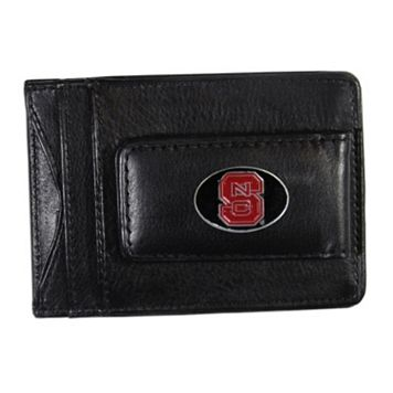 North Carolina State Wolfpack Black Leather Cash & Card Holder