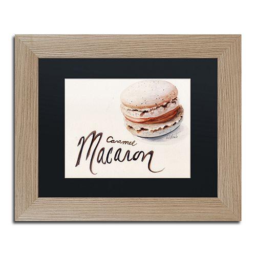 """Trademark Fine Art """"Caramel Macaron"""" Birch Finish Framed Wall Art"""