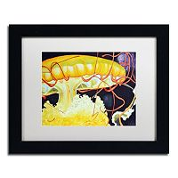Trademark Fine Art Chattanooga Jelly Fish Black Framed Wall Art