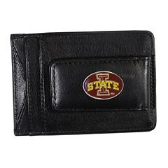 Iowa State Cyclones Black Leather Cash & Card Holder