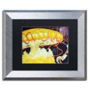 Trademark Fine Art Chattanooga Jelly Fish Silver Finish Framed Wall Art