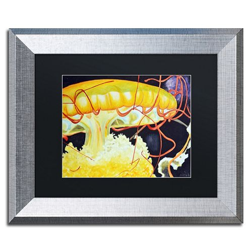 Trademark Fine Art Chattanooga Jelly Fish Silver Finish Framed Wall Art