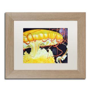 Trademark Fine Art Chattanooga Jelly Fish Birch Finish Framed Wall Art