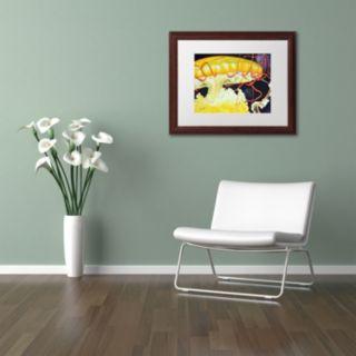 Trademark Fine Art Chattanooga Jelly Fish Wood Finish Framed Wall Art