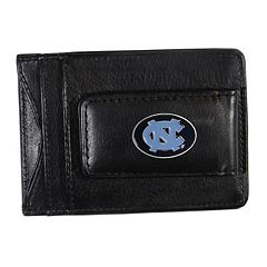 North Carolina Tar Heels Black Leather Cash & Card Holder