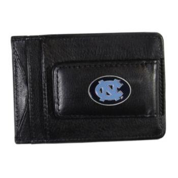 North Carolina Tar Heels Black Leather Cash & Card Holder