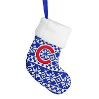 Forever Collectibles Chicago Cubs Knit Stocking Christmas Ornament