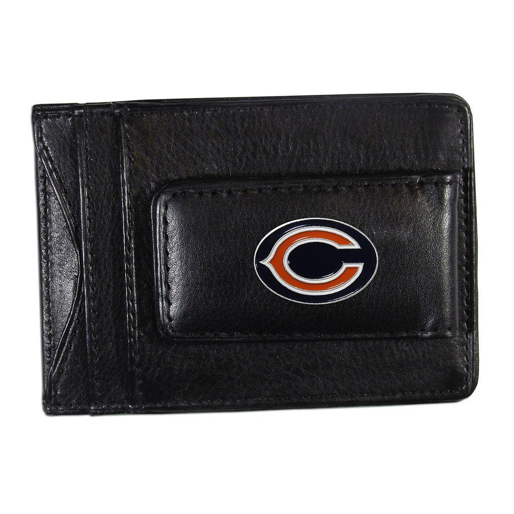 Chicago Bears Black Leather Cash & Card Holder