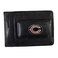 Chicago Bears Black Leather Cash & Card Holder