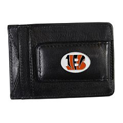 Cincinnati Bengals Black Leather Cash & Card Holder