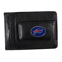 Buffalo Bills Black Leather Cash & Card Holder