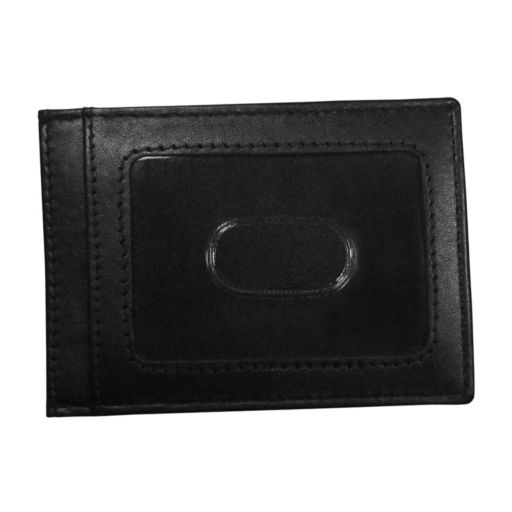Denver Broncos Black Leather Cash & Card Holder