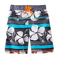 Boys 4-7 ZeroXposur Tropical Striped Swim Trunks