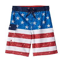 Boys 4-7 ZeroXposur American Flag Swim Trunks