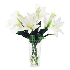 Designs by Lauren Artificial White Lily Arrangement
