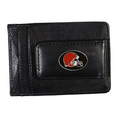Cleveland Browns Black Leather Cash & Card Holder