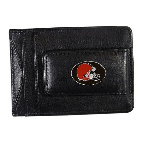 Cleveland Browns Black Leather Cash & Card Holder