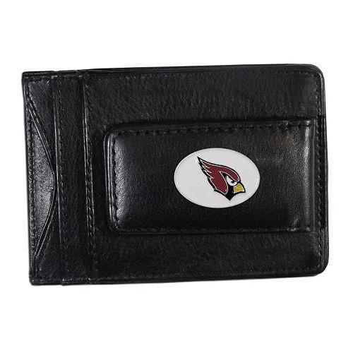 Arizona Cardinals Black Leather Cash & Card Holder