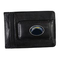 San Diego Chargers Black Leather Cash & Card Holder