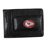 Kansas City Chiefs Black Leather Cash & Card Holder
