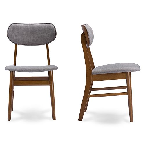 Baxton Studio Sacramento Dining Chair 2-piece Set